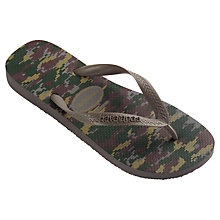 Buy Havaianas Camufluda Flip Flops, Grey Online at johnlewis.com