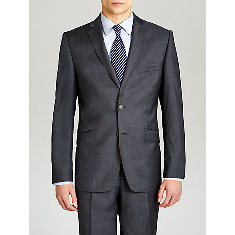 Buy Daniel Hechter Contrast Twill Suit Jacket, Charcoal Online at johnlewis.com