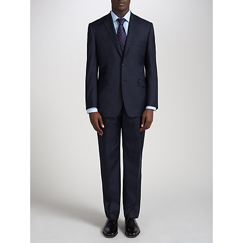 Buy Daniel Hechter Wool Rich Tailored Suit Jacket, Navy Online at johnlewis.com