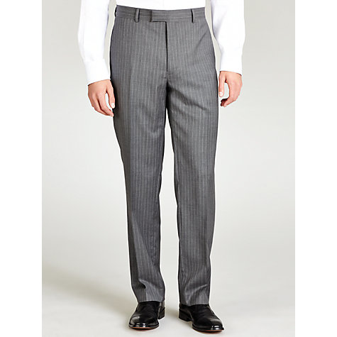 Buy Paul Costelloe Soft Stripe Suit Trousers, Grey Online at johnlewis.com