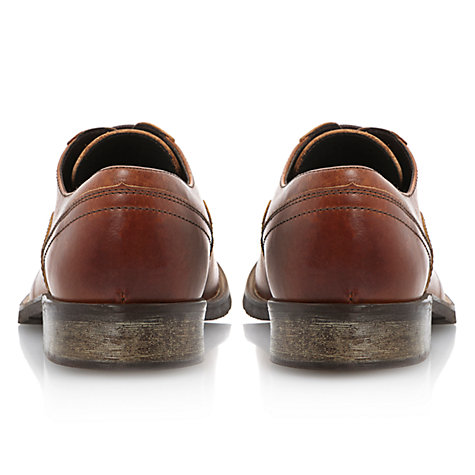 Buy Dune Belsit Leather Derby Shoes, Tan Online at johnlewis.com