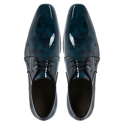 Buy Dune Gibson Oil Effect Derby Shoes, Blue Online at johnlewis.com