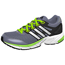Buy Adidas Supernova Sequence 6 Running Trainers, Grey/White/Green Online at johnlewis.com