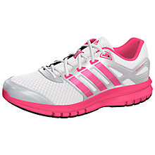 Buy Adidas Duramo 6 Running Trainers, White/Pink Online at johnlewis.com