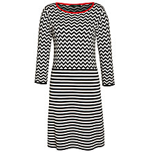 Buy Weekend by MaxMara Silk Stripe Dress, Beige/Black Online at johnlewis.com