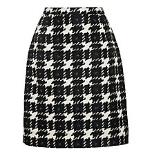 Buy Weekend by MaxMara Houndstooth Skirt, Black Online at johnlewis.com