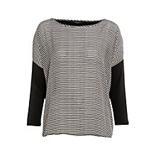 Buy Weekend by MaxMara Silk Front Printed Tee, Black Online at johnlewis.com