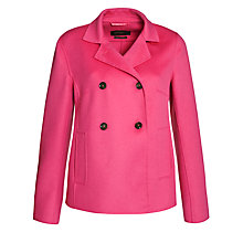 Buy Weekend by MaxMara Double Face Jacket, Pink Online at johnlewis.com