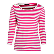 Buy Weekend by Maxmara Striped 3/4 Sleeve Tee, Pink Online at johnlewis.com
