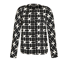 Buy Weekend by MaxMara Houndstooth Jacket, Black/White Online at johnlewis.com