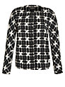 Weekend by MaxMara Houndstooth Jacket, Black/White