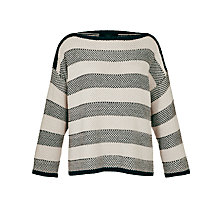 Buy Weekend by MaxMara Contrast Stripe Jumper, Navy Online at johnlewis.com