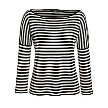 Buy Weekend by MaxMara Stripe Jumper, Black Online at johnlewis.com