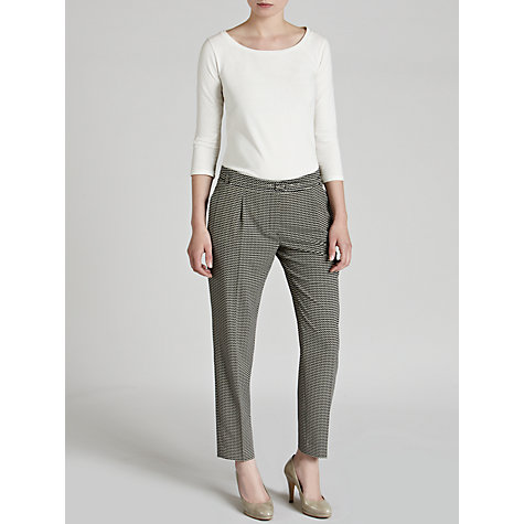 Buy Weekend by MaxMara Chevron Trousers, Black Online at johnlewis.com