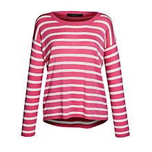 Buy Weekend by MaxMara Knitted Stripe Jumper, Pink Online at johnlewis.com
