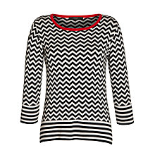 Buy Weekend by MaxMara Chevron Contrast Jumper, Beige Online at johnlewis.com