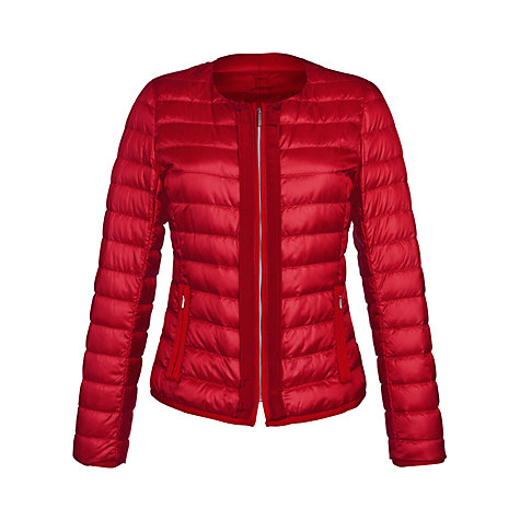 Buy Weekend by MaxMara Down Zip Front Jacket, Red Online at johnlewis.com