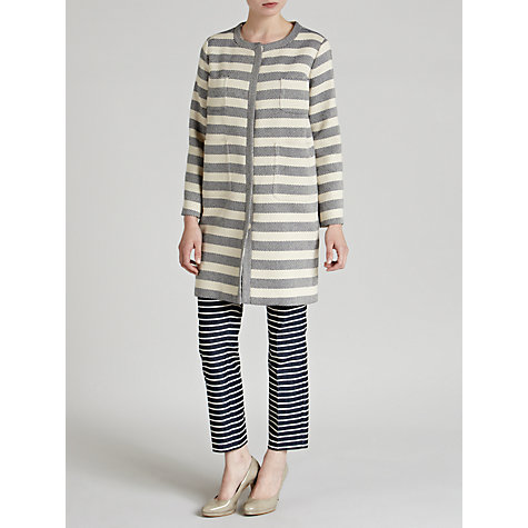 Buy Weekend by MaxMara Stripe Contrast Coat, Beige Online at johnlewis.com