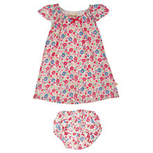 Buy Frugi Baby Ditsy Floral Print Dress & Bloomers, Multi Online at johnlewis.com