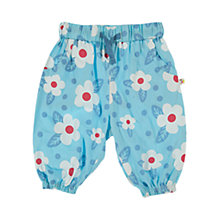 Buy Frugi Daisy Pull-Up Trousers, Blue Online at johnlewis.com