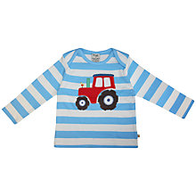 Buy Frugi Long Sleeve Tractor T-Shirt, Blue/White Online at johnlewis.com