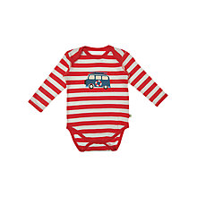 Buy Frugi Long Sleeve Bodysuit, Red/Multi Online at johnlewis.com