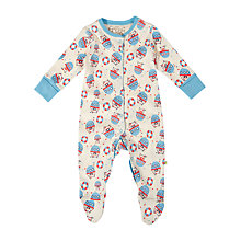 Buy Frugi Boat Babygrow Sleepsuit, Cream Online at johnlewis.com