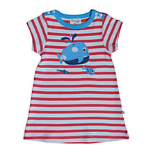 Buy Frugi Baby Whale Motif T-Shirt, Red Online at johnlewis.com