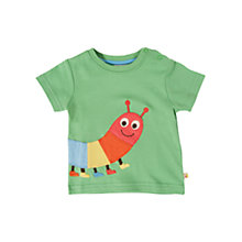 Buy Frugi Baby Caterpillar T-Shirt, Green Online at johnlewis.com
