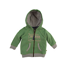 Buy Frugi Zip-Through Camper Hoodie, Lichen Online at johnlewis.com