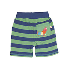 Buy Frugi Caterpillar Pocket Stripe Shorts, Green/Navy Online at johnlewis.com