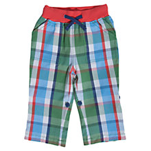 Buy Frugi Checked Roll-Up Trousers, Green Online at johnlewis.com