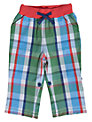 Frugi Checked Roll-Up Trousers, Green