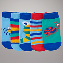 Buy John Lewis Bug Socks, Pack of 5, Multi Online at johnlewis.com