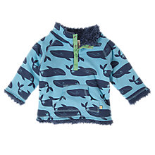 Buy Frugi Reversible Whale Snuggie Fleece, Blue Online at johnlewis.com