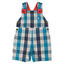 Buy Frugi Baby Check Dungarees, Blue Online at johnlewis.com
