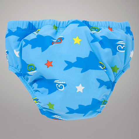 Buy John Lewis Shark Print Swim Nappy, Blue Online at johnlewis.com