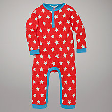 Buy John Lewis Star Print Sleepsuit, Red/Blue Online at johnlewis.com