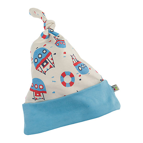 Buy Frugi Knotted Boat Hat, Cream/Multi Online at johnlewis.com