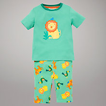 Buy John Lewis Jungle Friends Pyjamas, Green Online at johnlewis.com