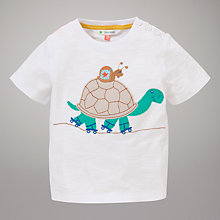 Buy John Lewis Tortoise & Slug Motif T-Shirt, White Online at johnlewis.com
