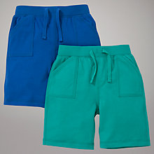 Buy John Lewis Bermuda Jersey Shorts, Pack of 2, Blue/Green Online at johnlewis.com
