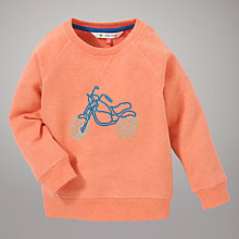 Buy John Lewis Marl Bike Motif Jumper, Coral Online at johnlewis.com