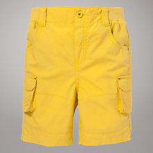 Buy John Lewis Poplin Shorts, Yellow Online at johnlewis.com
