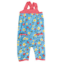 Buy Frugi Baby Springtime Bee Dungarees, Blue/Red Online at johnlewis.com