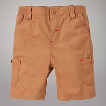 Buy John Lewis Ripstop Ribbed Waistband Shorts, Tan Online at johnlewis.com