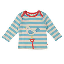 Buy Frugi Long Sleeve Seagull Top, Blue/Cream Online at johnlewis.com
