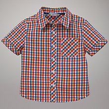 Buy John Lewis Bright Check Shirt, Multi Online at johnlewis.com