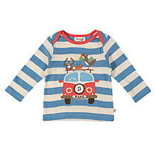 Buy Frugi Long Sleeve Camper T-Shirt, Blue Online at johnlewis.com