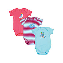 Buy Frugi Girls' Bodysuit, Pack of 3, Multi Online at johnlewis.com
